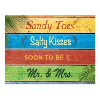 Los besos salados de los dedos del pie de Sandy Postales