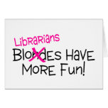 Los bibliotecarios se divierten más felicitacion