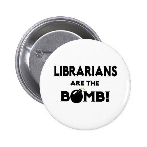 ¡Los bibliotecarios son la bomba! Pin