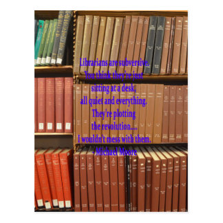 Los bibliotecarios son subversivos tarjeta postal