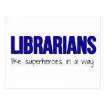 Los bibliotecarios son super héroes tarjetas postales