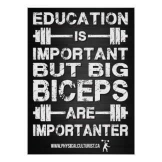Los bíceps grandes son Importanter que el poster