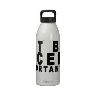 Los bíceps grandes son Importanter que la educació Botella De Agua Reutilizable