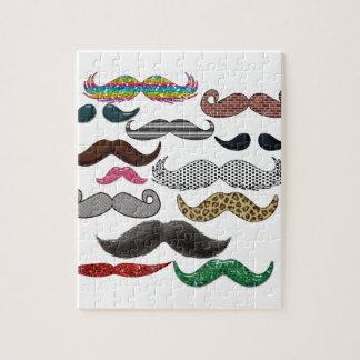 Los bigotes del collage del bigote populares añade rompecabeza