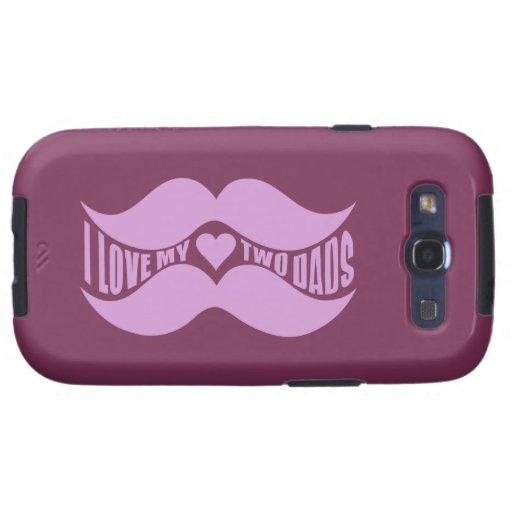 Los bigotes rosados Samsung de encargo encajonan Samsung Galaxy S3 Carcasas