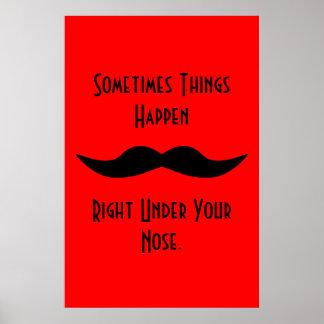 Los bigotes suceden impresiones