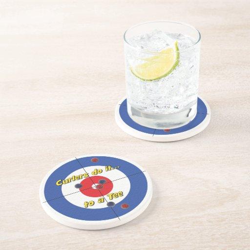 """Los """"bigudíes lo hacen práctico de costa de la pie posavasos para bebidas"""
