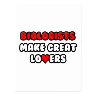 Los biólogos hacen a grandes amantes tarjeta postal
