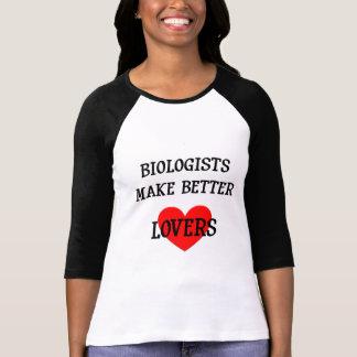 Los biólogos hacen a mejores amantes camiseta