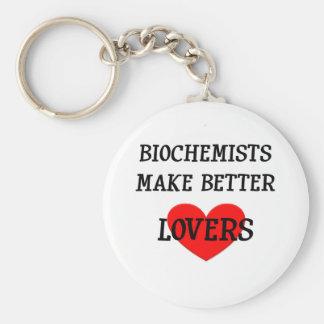 Los bioquímicos hacen a mejores amantes llavero redondo tipo pin