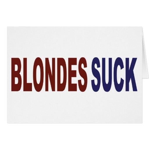 Los Blondes chupan Tarjeta De Felicitación