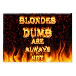 Los Blondes mudos son siempre fuego caliente Tarjetas Personales