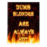 Los Blondes mudos son siempre fuego caliente Tarjetas Postales