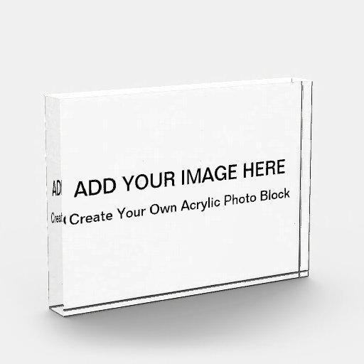 Los bloques de acrílico de la foto - cree sus los