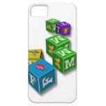 Los bloques de los niños pasados de moda iPhone 5 Case-Mate funda