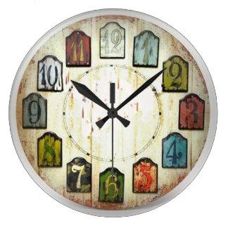 Los bloques numerados relojes