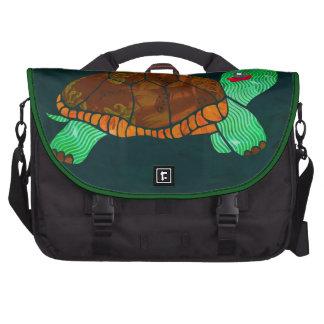 Los bloques pintados lindos pintaron la tortuga bolsas para portatil