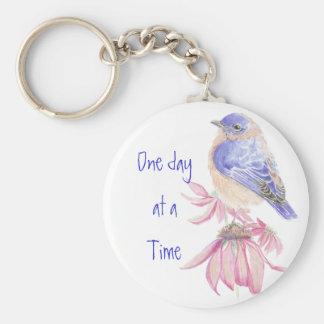 Los Bluebirds, de motivación, un día a la vez Llavero Redondo Tipo Pin