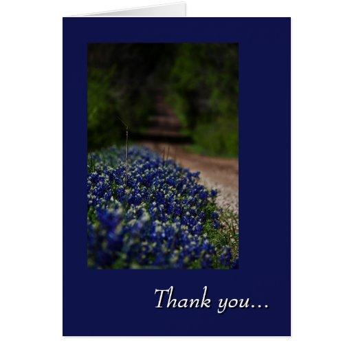 Los Bluebonnets y la carretera nacional le agradec Tarjetón