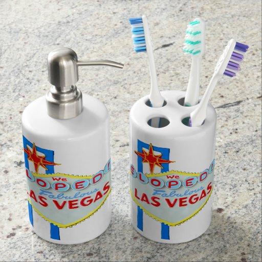 Los bodas de Las Vegas Elope Set De Baño