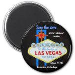 Los bodas de Las Vegas personalizados ahorran la f Iman Para Frigorífico