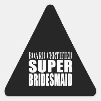 Los bodas favorecen símbolos y gracias: Dama de Pegatina Triangular