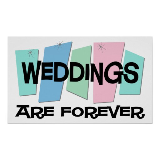 Los bodas son Forever Póster