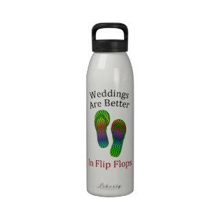 Los bodas son mejores en el boda de playa de los f botella de agua reutilizable
