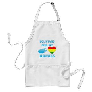 Los bolivianos son mi Homies Delantal