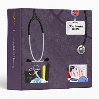 """Los bolsillos personalizados de la enfermera carpeta 1 1/2"""""""
