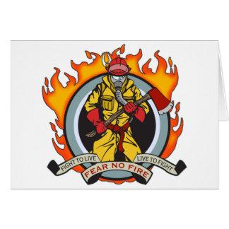 Los bomberos no temen ningún fuego tarjetón
