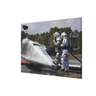 Los bomberos responden a la escena impresiones de lienzo