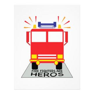 Los bomberos son héroes membrete