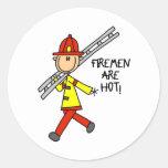 Los bomberos son pegatinas calientes