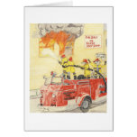 Los bomberos valientes tarjetas