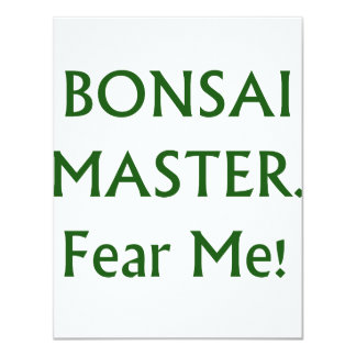 Los bonsais principales me temen texto verde invitacion personalizada