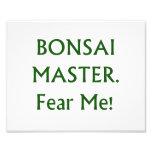 Los bonsais principales me temen texto verde impresiones fotográficas