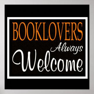 Los Booklovers acogen con satisfacción siempre el  Póster