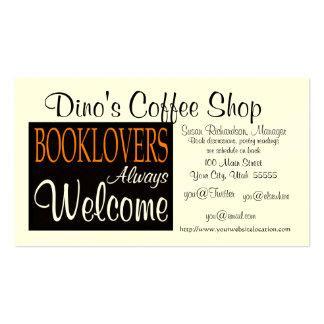 Los Booklovers dan la bienvenida a la tarjeta de v Tarjetas De Visita