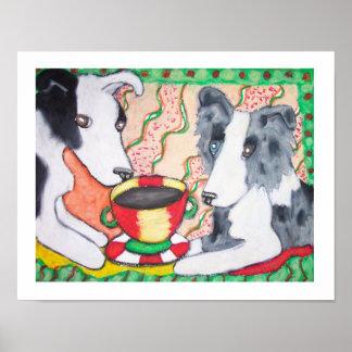 ¿Los borderes collies tienen café? Poster del arte