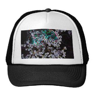 los bordes que brillan intensamente abstractos de gorras