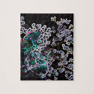 los bordes que brillan intensamente abstractos de puzzle