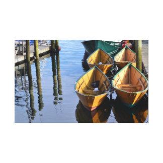 Los botes de Gloucester envolvieron la lona Impresión En Lienzo