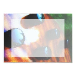 """Los botones bajos de la recogida del ojo del tigre invitación 5"""" x 7"""""""
