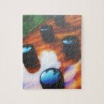 Los botones bajos de la recogida del ojo del tigre rompecabezas con fotos