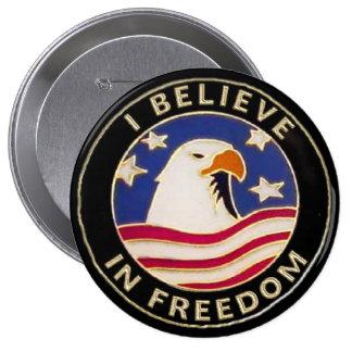 los botones de Pinback de la libertad de los E.E.U Pin Redondo De 4 Pulgadas