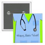 Los botones felices de la semana de la enfermera f pins