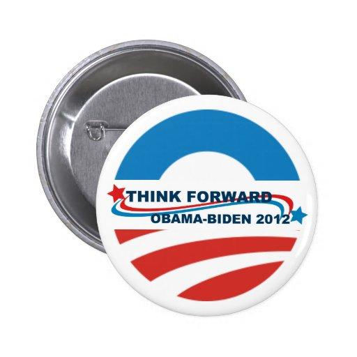 Los botones piensan Obama delantero - Biden 2012