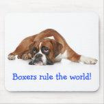 Los boxeadores gobiernan el mundo Mousepad Tapete De Raton