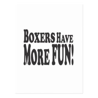 ¡Los boxeadores se divierten más! Postales